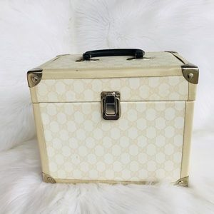Vintage Cosmetic Case with gorgeous print